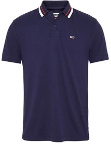 Tommy Jeans Classics Tipped Polo T-Shirt - Twilight Navy | Coaststore