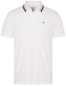 Tommy Jeans Classics Tipped Polo T-shirt - Classic White | Coaststore