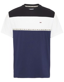 Tommy Jeans Colorblocked Tape T-shirt - Black Iris | Coaststore.dk