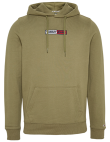 Tommy Jeans Embroided Box Hættetrøje - Uniform Olive | Coaststore