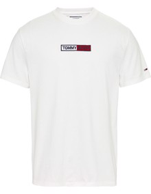 Tommy Jeans Embroidered Box Logo T-shirt - White | Coaststore
