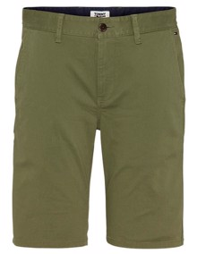 Tommy Jeans Essential Chino Shorts - Uniform Olive | Coaststore