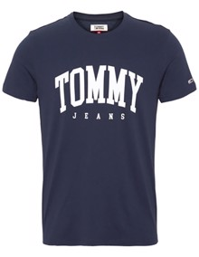 Tommy Jeans Essential Logo T-shirt - Black Iris | Coaststore.dk