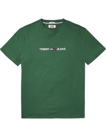 Coaststore.dk Tommy Jeans Men Small Text T-shirt Grøn