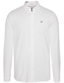 Tommy Jeans Stretch Oxford Skjorte - Classic White | Coaststore