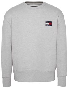 Tommy Jeans Badge Sweatshirt - Grey Heather | Coaststore.dk
