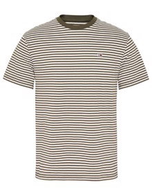 Tommy Jeans Classics Stripe T-shirt  - Olive Night | Coaststore.dk