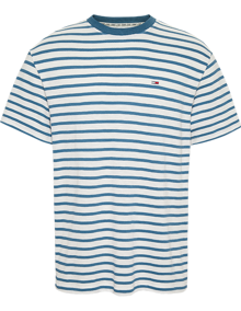 Tommy Jeans Tommy Stripe T-shirt - Audacious Blue / White | Coaststore
