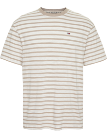 Tommy Jeans Tommy Stripe T-shirt - Stone | Coaststore