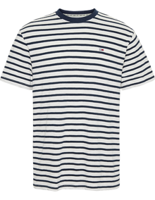 Tommy Jeans Tommy Stripe T-shirt - Twilight Navy / White | Coaststore