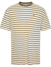 Tommy Jeans Tommy Stripe T-Shirt - Uniform Olive | Coaststore