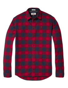 Coaststore.dk Tommy Jeans Men Essential Flannel Check Skjorte Rød & Navy