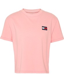 Tommy Jeans Badge T-shirt - Pink Icing | Coaststore