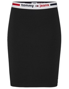 Tommy Jeans Bodycon Nederdel - Black | Coaststore