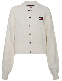 Tommy Jeans Button Detail Cardigan - Ecru | Coaststore