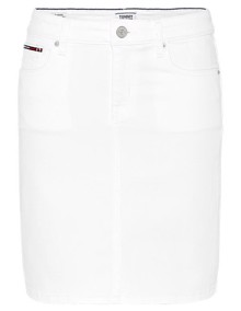 Tommy Jeans Classic Denim Nederdel - Candle White | Coaststore