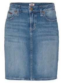 Tommy Jeans Classic Denim Nederdel - Victoria Blue | Coaststore