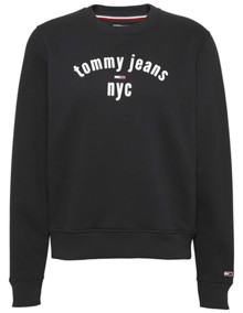 Tommy Jeans Essential Logo Sweatshirt - Tommy Black | Coaststore.dk