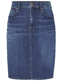Tommy Jeans High Waist Denim Nederdel - Dynamic Blue | Coaststore