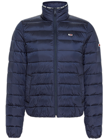 Tommy Jeans Quilted Zip Through Jakke - Twilight Navy | Coaststore