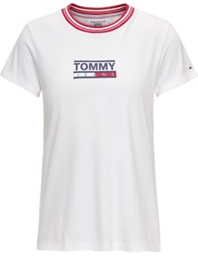 Tommy Jeans Rib Stripe Neck T-shirt | Coaststore.dk