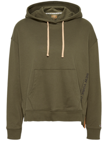 Tommy Jeans Side Slit Hættetrøje - Olive Tree | Coaststore