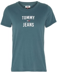 Tommy Jeans Square Logo T-shirt - Atlantic Deep | Coaststore.dk