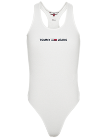 Tommy Jeans Strap Bodysuit - White | Coaststore