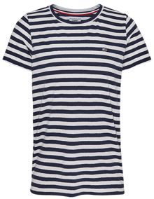 Tommy Jeans Textured Stripe T-shirt - Twilight Navy | Coaststore