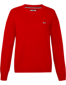 Tommy Jeans Tommy Classics Sweater - Deep Crimson | Coaststore