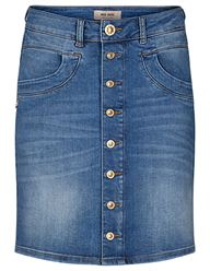 Mos Mosh Vicky Decor Nederdel - Light Blue Denim | Coaststore